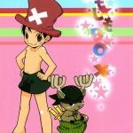 ルフィ& ゾロ&サンジ&ナミ&ロビンが活躍するかなり可愛く描かれているBL同人誌ですっ!!【ワンピース(ONEPIECE) 同人誌・エロ漫画】